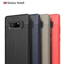 For galaxy note 8 leather case , soft tpu leather sticker back cover case for samsung note 8