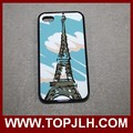 Heat transfer printed customed 2D silicone mobile case for iphone 4