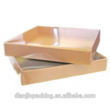 Small kraft brown paper boxes with clear lid
