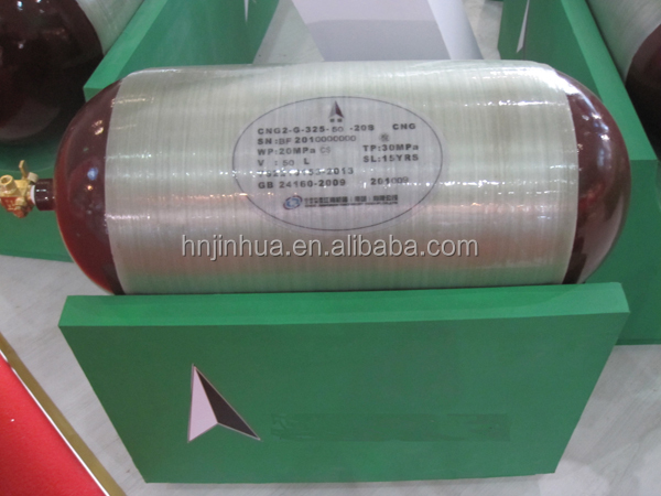 Type 2 CNG Composite Cylinders For Vehicles OD325 50L