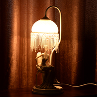 Yellow lighting beautiful modern decorative resin table lamp