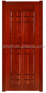 HDF Surface Finished Swing open style veneer laminated Internal wooden doors with frame
