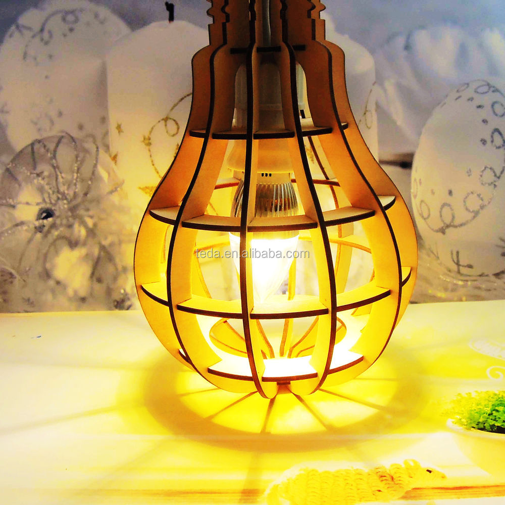2016Teda wooden handicraft lampshade