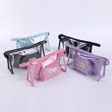 Top Quality Lady Clear Pvc Toiletry Bag Transparent Cosmetic Bag Pouch Bag