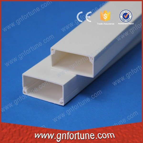 PVC plastic cable wiring duct with white color