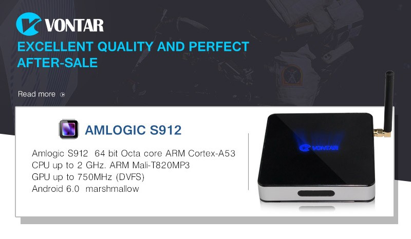 VONTAR Z5 SUPERMAX Amlogic S912 Octa Core Android 6.0 TV Box 2GB/16GB