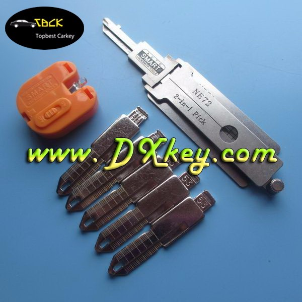 High Quality lock pick set NE72 2 in 1 auto smart locksmith tools and car key decoder for Peugeot 206 and Renault