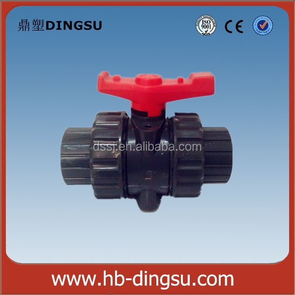 "1/2""-4"" PVC Double Union Ball Valve Plastic Fitting"