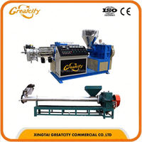 300kg/h High quality agglomerator type pe plastic film bag recycling pelletizing machine