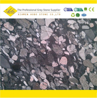 Black Background black and white pebbles and cobbles composite slabs, natural pebble stone paver