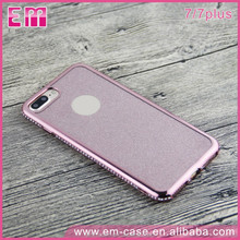 Newest Diamond Bumper Cover Case for iPhone 7,Electroplating Luxury Phone Shell Case for iPhone 7 Plus