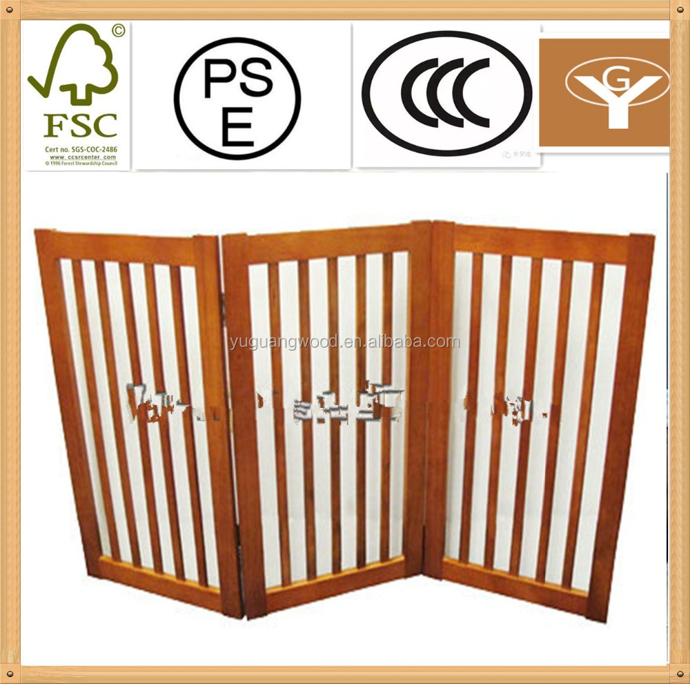 dog gate wood/wooden pet fence