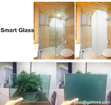 Magic glass switch panel/ Tinted smart switchable glass panels/ price per square meter for electric glassChina factory