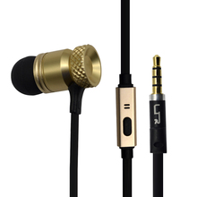 Flat cable earphone with mic, earphone with tangle free wire high quality in ear earphone , shenzhen earphone factory