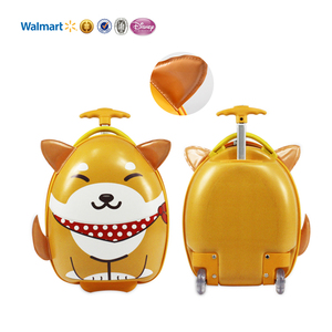cheap OEM egg shape hard shell dog animal cute eva pu kids suitcase