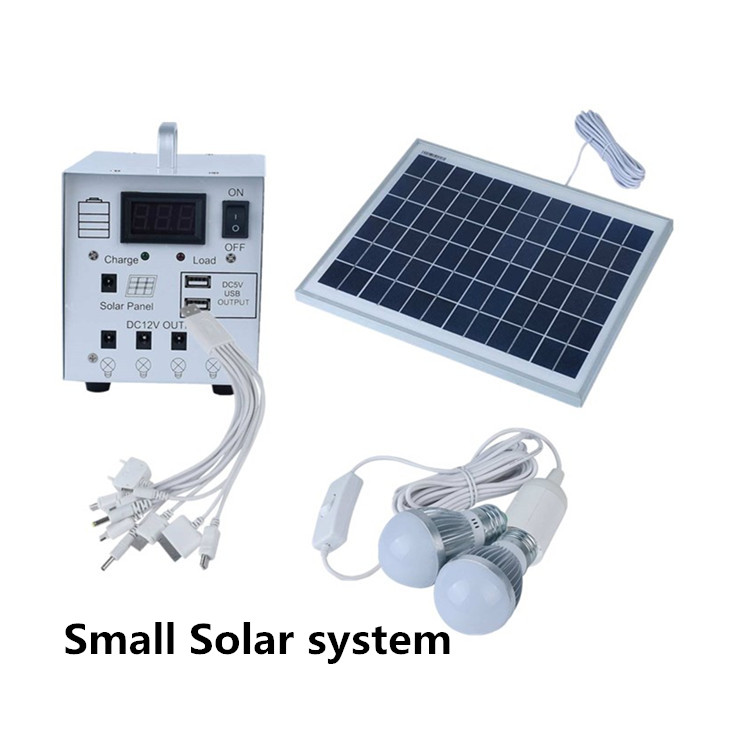 5W portable mini rechargeable home lighting solar power system for small house indoor outdoor solar