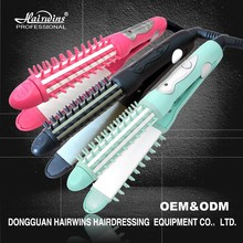 Professional light color cheap LED digital flat iron 2 in 1 hair straightener ceramic with comb