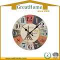 MDF Wall Clock Round Clock for Decoration
