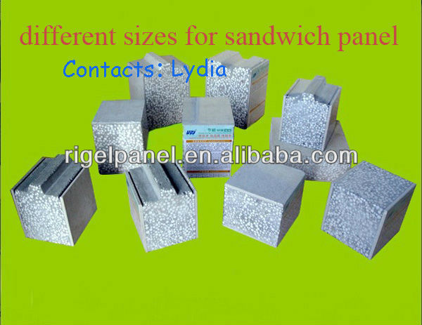Multi Function Cost Effective More Comfortable Green painel sandwich for Prefab House Project