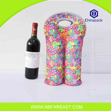 Cheap high quality non woven wine gift bottle bag, eco-friendly wine bag