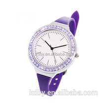 newest fashion sexy rhinestone quartz lady vogue silicone watch gift