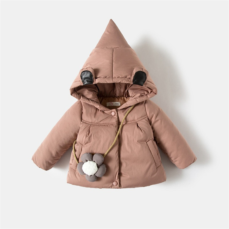Winter Baby Girls Long Sleeve Hooded Snow Wear Outerwear Down Parkas Jacket Coats