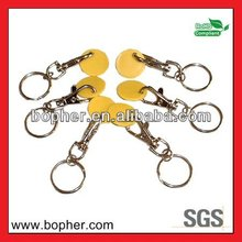 2014 hot sale custom design trolley caddy coin keychain