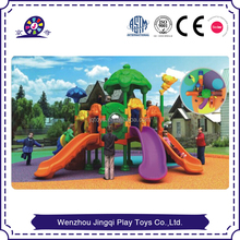 2017 new 3d outdoor kids swing set plastic tube Playgrounds for Backyard