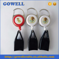 Customized Color Printing Carabiner Badge Reel