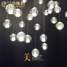 High quality made in china crystal glass globe ball chandelier pendant light for home