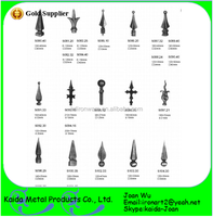 Different Size Wrought Iron Spears Pole Wholesale