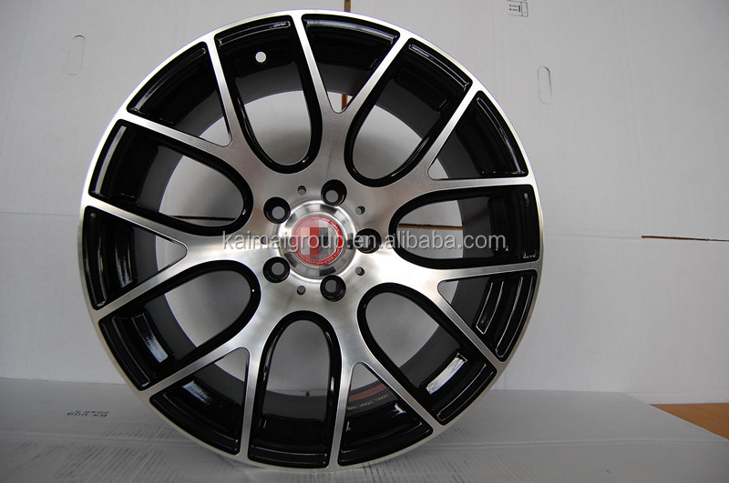 KM046 15*6.0j PCD= 4*112 car alloy wheel rims