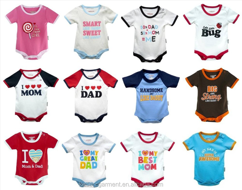2015 Alibaba Express Baby Clothing 100% Cotton Baby Romper