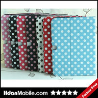 Polka Dot Folio Stand Smart Magnetic Leather Case Cover For Samsung Galaxy Tab 3 10.1 P5200 Tablet Accessories