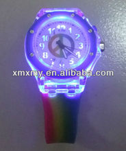 2013 Hot Selling Dial Flash Silicone Watch/Change Colors Wristband Watch In USA market