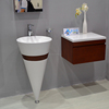 bathroom aritificial stone solid surface acrylic material wall hang basins