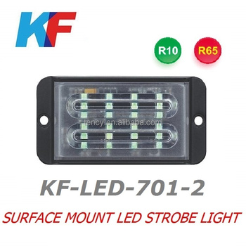 New Surface mount LED strobe light , LED Strobe Lightheads ,with E-mark,R65,5W top bright LEDs