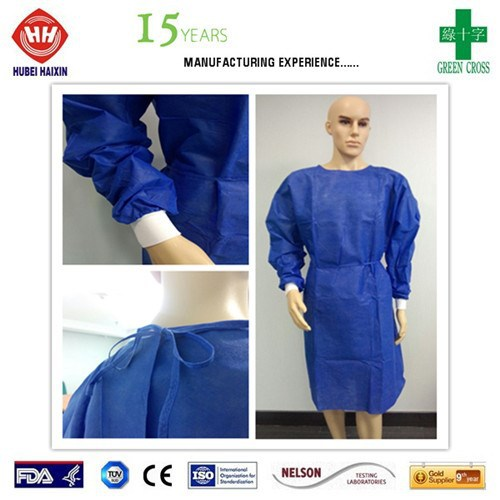 Standard Surgical Gown With 4 Belts/Knitted Cuff