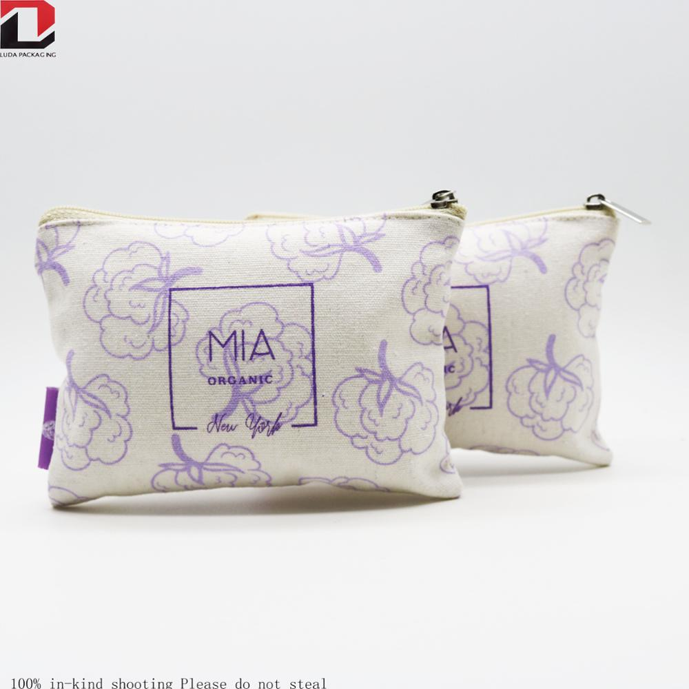 Custom printed zipper pouch bags manufacturer make up bags for women