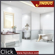 China 300x450mm blue ceramic bathroom floor and wall tiles