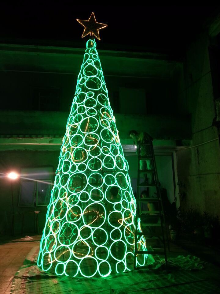 Led cone christmas tree artificial christmas tree for Artificial christmas decoration tree