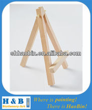 Small desktop wood easel