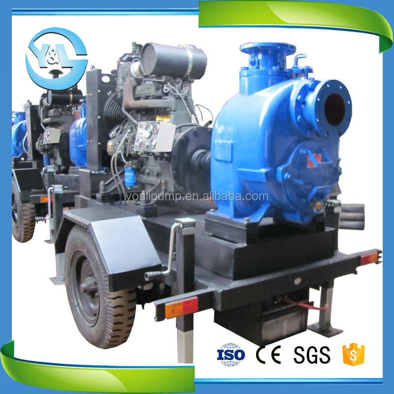 non-clog self priming diesel engine driven slurry pump