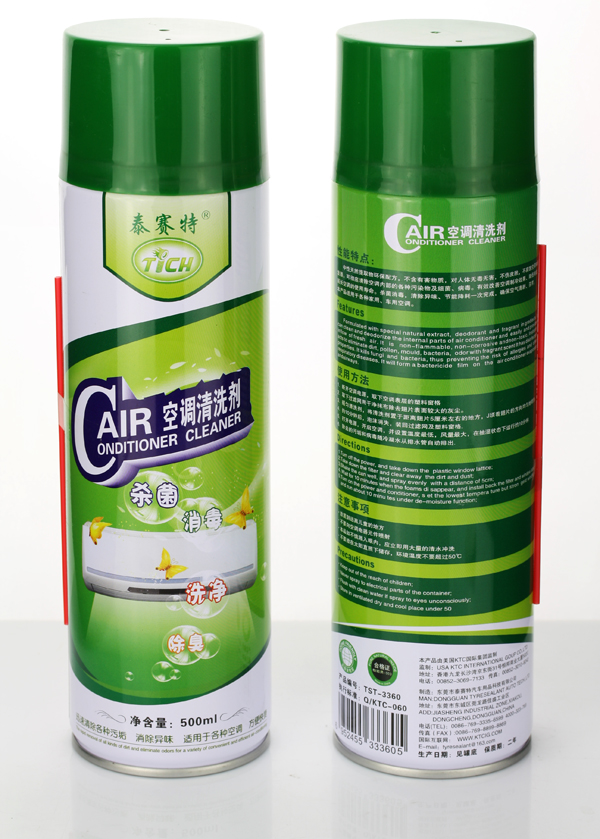 Use industrial chemicals of disinfectant foam cleaner to wash filters & condenser coil in indoor window upright air conditioners