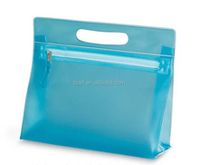 Ziplock Plastic PVC Travel Makeup Vanity Bag With Handle
