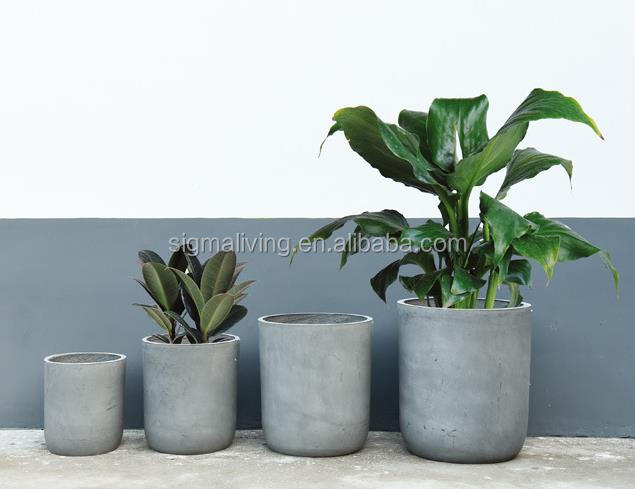 New arrival planters outdoor garden magnesium mud pot round simple flower pot
