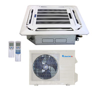 24,000 Btu Light Commercial Ductless - Cassette Fan Coils + DC Inverter Air Conditioner- Heat Pump -15.8 SEER-220 V