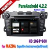 Hot selling multi-touch car dvd player for mazda cx-7 with bluetooth wifi 3G tv radio ipod iphone connection+SWC