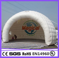 hot advertising inflatable igloo/inflatable fashion design luna igloo tents