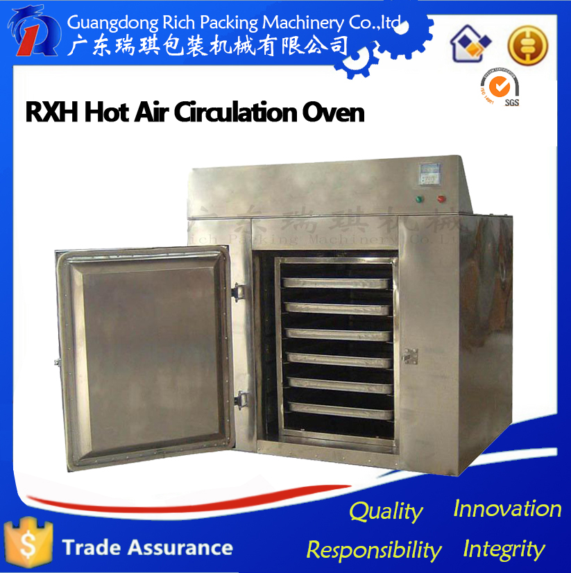 hot air circulating tray type high temperature oven